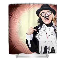 Shouting Businessman Stressed From Rush Hour Shower Curtain by Jorgo Photography - Wall Art Gallery