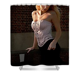Shy Shower Curtain by Clayton Bruster