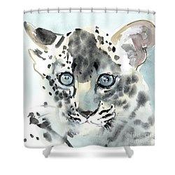 Shy Shower Curtain by Mark Adlington