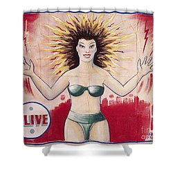 Sideshow Poster, C1965 Shower Curtain by Granger