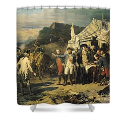 Siege Of Yorktown Shower Curtain by Louis Charles Auguste  Couder
