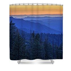 Sierra Fire Shower Curtain by Rick Berk