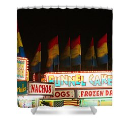 Signs Of Food At The Carnival Shower Curtain by James BO  Insogna