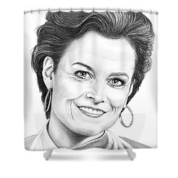 Sigourney Weaver Shower Curtain by Murphy Elliott