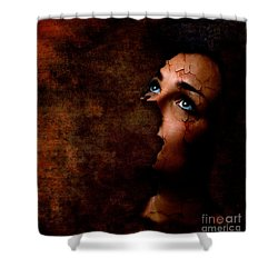 Silenced Shower Curtain by Jacky Gerritsen