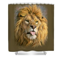 Silly Face Shower Curtain by Lucie Bilodeau