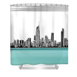 Silver Linings Panorama Shower Curtain by Az Jackson