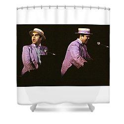 Sir Elton John 3 Shower Curtain by Dragan Kudjerski