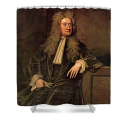 Sir Isaac Newton  Shower Curtain by Sir Godfrey Kneller