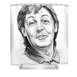 Sir Paul Mccartney Shower Curtain by Murphy Elliott