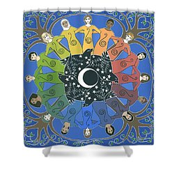 Sister Circle Shower Curtain by Karen MacKenzie