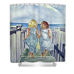 Sisters Shower Curtain by Paul SANDILANDS