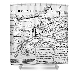 Six Nations Map 1771 Shower Curtain by Granger