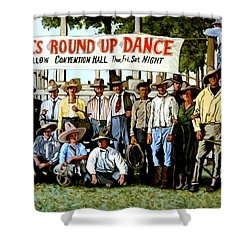 Skeeter Bill's Round Up Shower Curtain by Tom Roderick