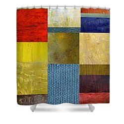 Skinny Color Study Ll Shower Curtain by Michelle Calkins