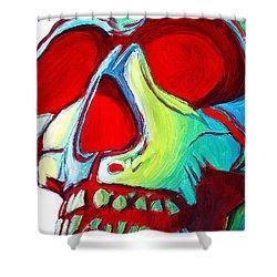 Skull Original Madart Painting Shower Curtain by Megan Duncanson