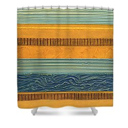 Sky Earth Water  Shower Curtain by Michelle Calkins