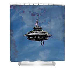 Sky Needle Shower Curtain by Tim Allen
