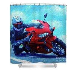 Sky Pilot - Honda Cbr600 Shower Curtain by Brian  Commerford