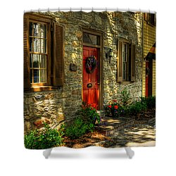 Small Town Usa Shower Curtain by Lois Bryan