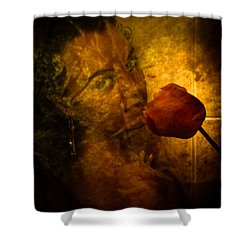 Smelling The Flowers Shower Curtain by Scott Sawyer