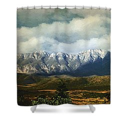 Smoky Clouds On A Thursday Shower Curtain by RC deWinter