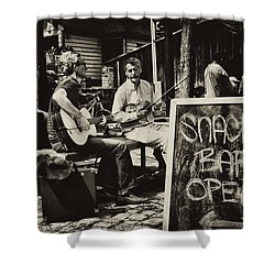 Snack Bar Open Shower Curtain by Bill Cannon