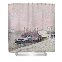 Snow In Rouen Shower Curtain by Jean Baptiste Armand Guillaumin