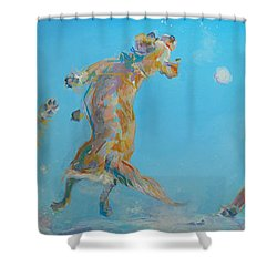 Snow Much Fun Shower Curtain by Kimberly Santini