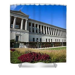 Soldier Field Chicago Bears Stadium Shower Curtain by Paul Velgos