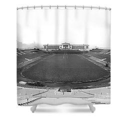 Soldier Field In Chicago Shower Curtain by Underwood Archives