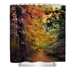 Solo Promenade Shower Curtain by Jessica Jenney