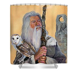Solstice Shower Curtain by J W Baker