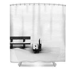 Someone To Hear You When You Sigh Shower Curtain by Dana DiPasquale