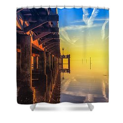 Shower Curtain featuring the photograph Somewhere Else by Thierry Bouriat