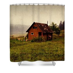 Somewhere In The Countryside. Russia Shower Curtain by Jenny Rainbow