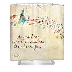 Somewhere Over The Rainbow Shower Curtain by Nikki Smith
