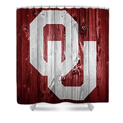 Sooners Barn Door Shower Curtain by Dan Sproul
