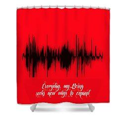 Soundwave Message Shower Curtain by Marvin Blaine