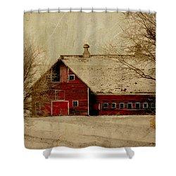 South Dakota Barn Shower Curtain by Julie Hamilton