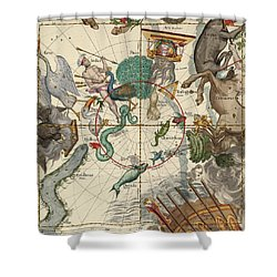 South Pole Shower Curtain by Ignace-Gaston Pardies