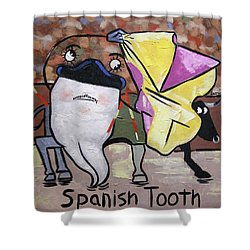 Spanish Tooth Shower Curtain by Anthony Falbo