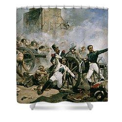 Spanish Uprising Against Napoleon In Spain Shower Curtain by Joaquin Sorolla y Bastida