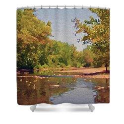 Spavinaw Creek Shower Curtain by Jeff Kolker