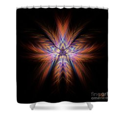 Spectra Shower Curtain by Alina Davis