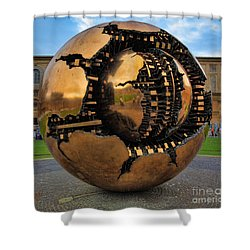 Sphere Within Sphere Shower Curtain by Inge Johnsson