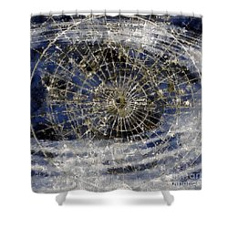 Spinning Away Shower Curtain by RC DeWinter