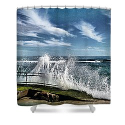 Splash Happy Shower Curtain by Kym Clarke