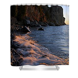 Split Rock Lighthouse At Dawn Shower Curtain by Larry Ricker