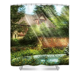 Spring - Garden - The Pool Of Hopes Shower Curtain by Mike Savad